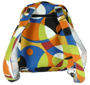 Small Backpack exterior back (Sewn By Tanya Project Review - So Sew Easy's Small Backpack)