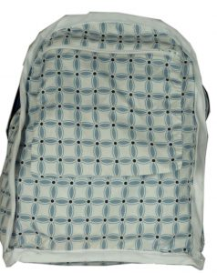Small Backpack inside out; back zippered pocket (Sewn By Tanya Project Review - So Sew Easy's Small Backpack)