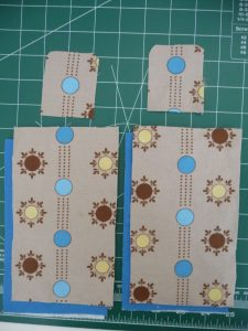 Cut fabric and fusible fleece for Custom iPod or Phone Case (project review by Sewn By Tanya)