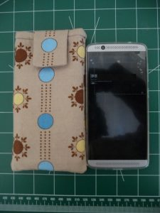 Smartphone and completed Custom iPod or Phone Case (project review by Sewn By Tanya)