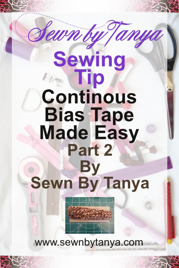Sewn By Tanya Sewing Tip: Continuous Bias Tape Made Easy (Part 2- bias strip to bias tape)[/