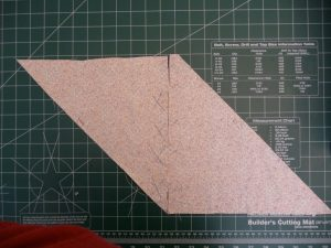 Match selvage edges so that bias lines are parallel when making continuous bias strip