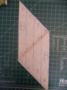 Number bias strips when making continous bias strip