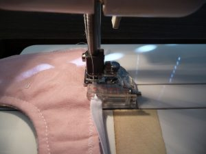 Attach the bias tape foot the sewing machine (Sewn By Tanya | Sewing Tip | Bias Tape Presser Foot)