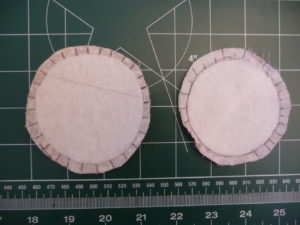 Prepare interior circles to sew a fabric can cover (Sewn By Tanya Sewing Tutorial)