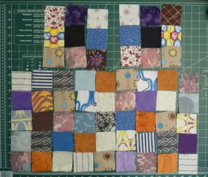 Sewn By Tanya | Project Review | Glorified Scrap Basket -SewSewMaria: arranging the squares