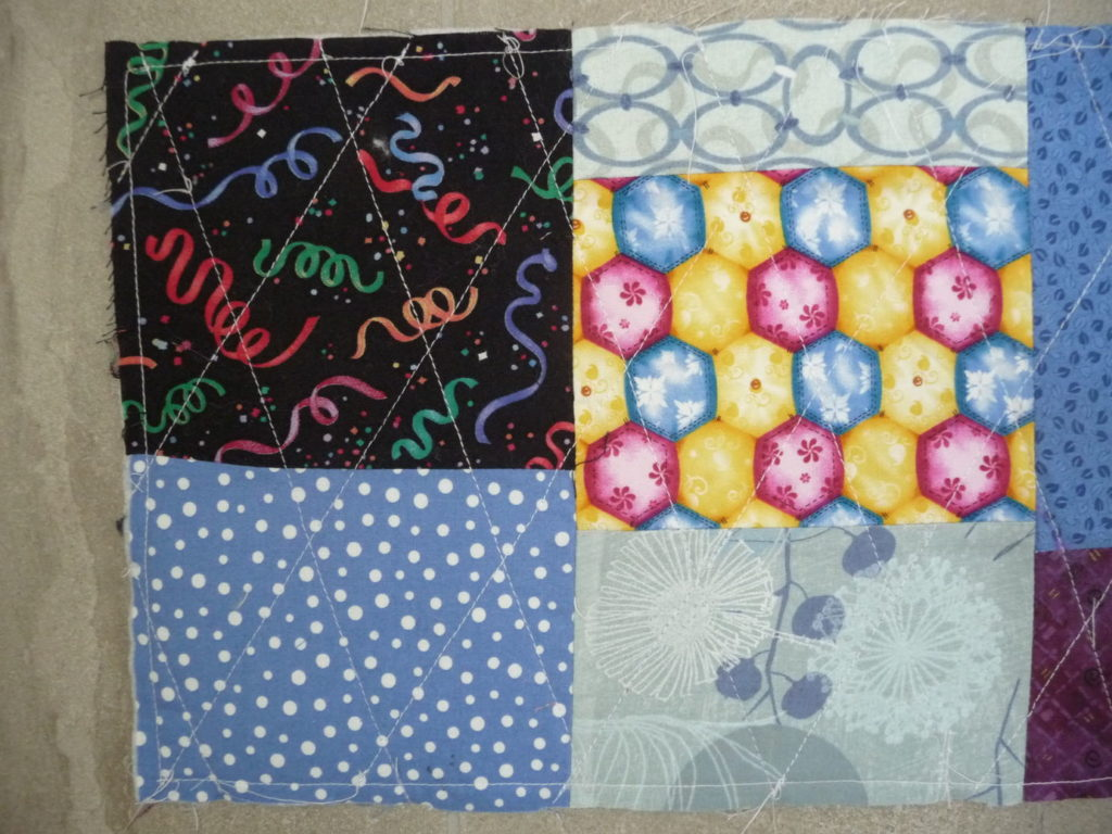Sewn By Tanya Project Review | Scrap Bucket Basket by The Sewing Loft Blog - close up of quilting