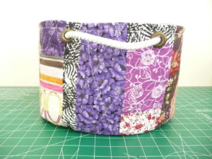 Sewn By Tanya Project Review | Scrap Bucket Basket by The Sewing Loft Blog - front view
