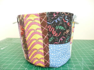 Sewn By Tanya Project Review | Scrap Bucket Basket by The Sewing Loft Blog - side view