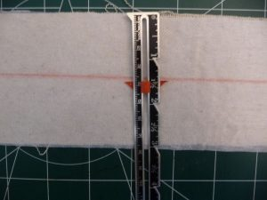 Sewn By Tanya Sewing Tutorial: No-Webbing Yoga Strap | center line marked along length of strip