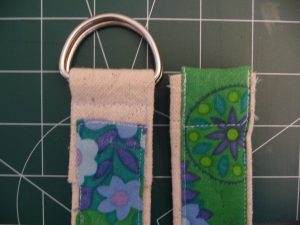 Sewn By Tanya Sewing Tutorial: No-Webbing Yoga Strap | front view of top and bottom ends