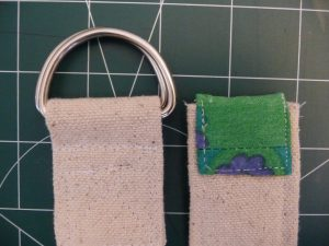 Sewn By Tanya Sewing Tutorial: No-Webbing Yoga Strap | back view of top and bottom ends