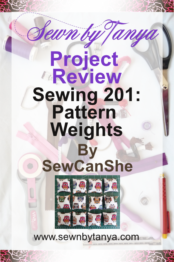 "PInterest image for ""Sewn By Tanya Project Review : Sewing 201 Pattern Weights by SewCan She"""