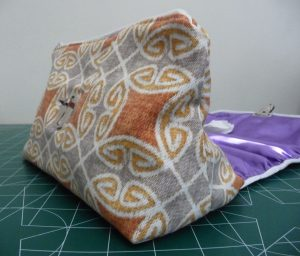 Measuring completed So-Sew-Easy Cosmetic Bag