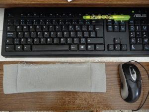 Comparing fabric width to keyboard width