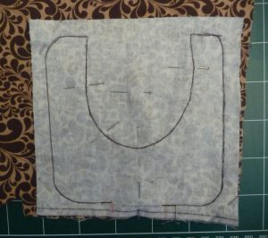Sew mouse palm rest layers together