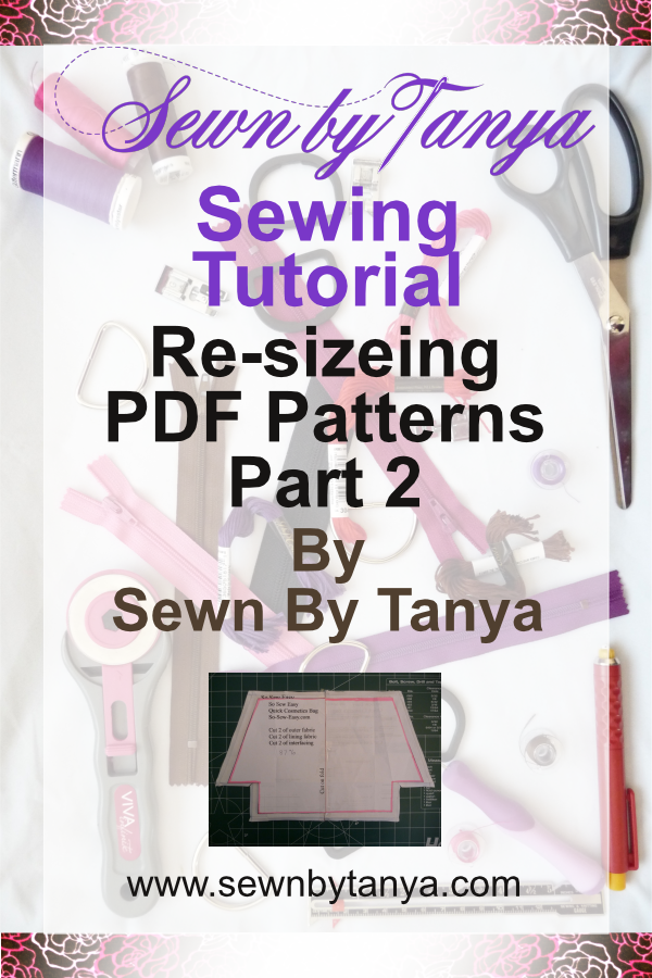 Sewn By Tanya Sewing Tutorial: Re-sizing PDF Patterns Part 2