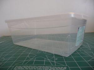 Empty 6L plastic shoe box