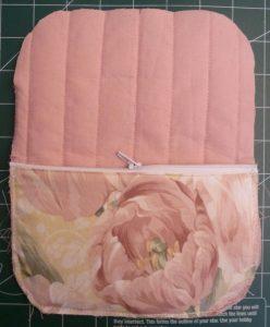 Zipper pocket sewn onto back panel
