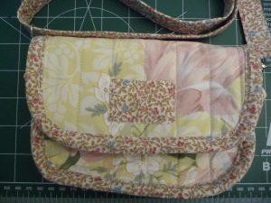 Closeup of DIY Clutch front flap