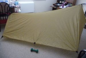 Side view of my khaki SUL Tarp