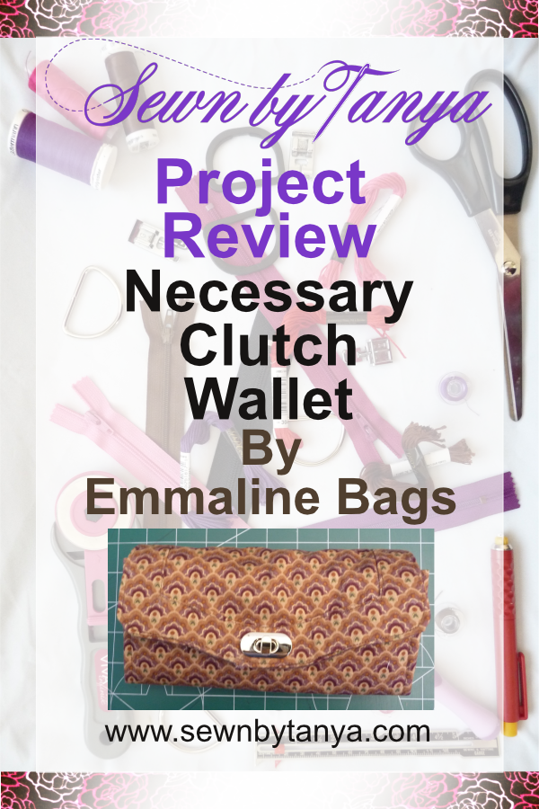 """PInterest image for """"Sewn By Tanya Project Review : Necessary Clutch Wallet by Emmaline Bags"""""""