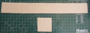 canvas strip (top) and rectangule (bottom) on a green background