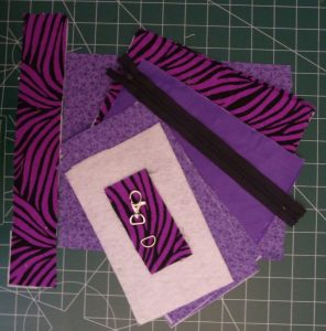 Materials for date Night Wristlet