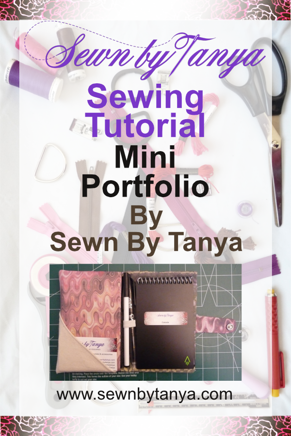 "Pinterest image for ""Sewn By Tanya Sewing Tutorial: Mini Portfolio"""