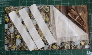 Brown, white and clear materials for desk mat