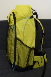 Yellow and black TH50 backpack