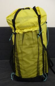 Yellow and black TH50 backpack front view