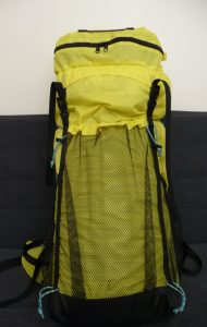 Yellow and black TH50 backpack and TH Lid front view