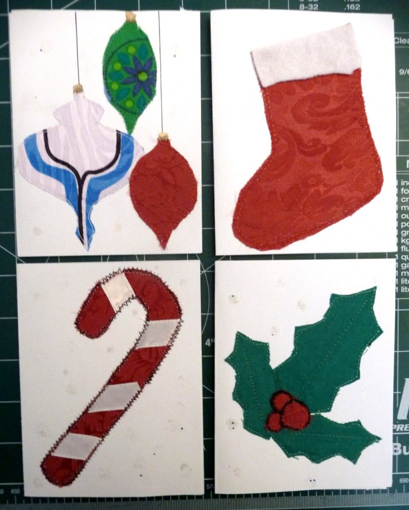 4 assorted Christmas cards