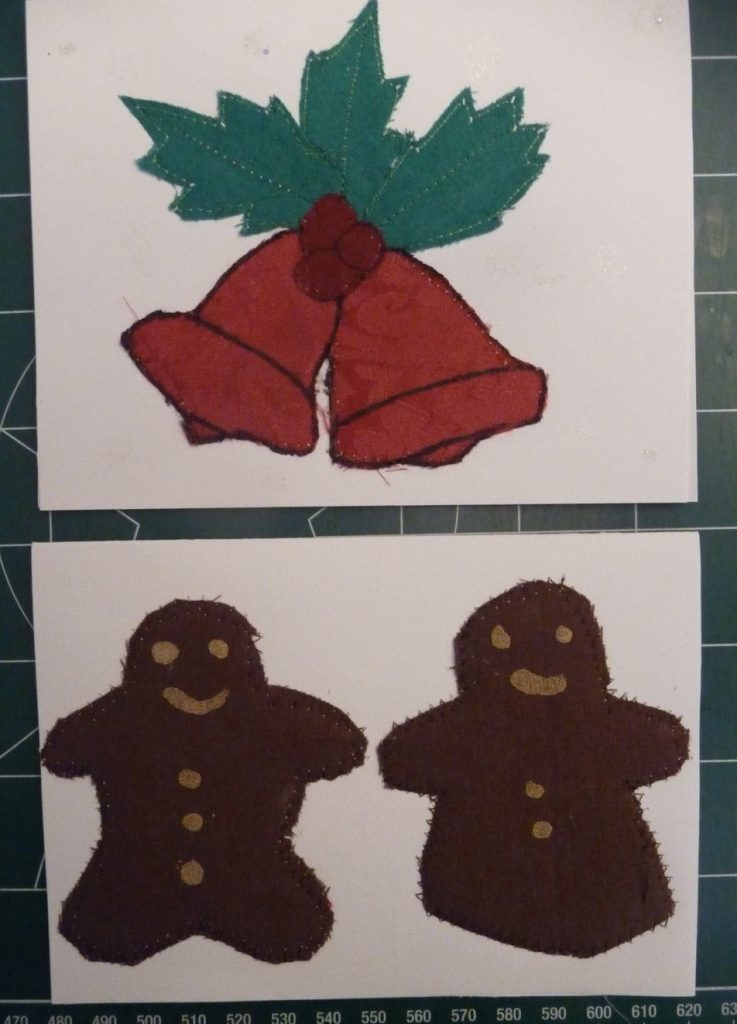 2 assorted Christmas cards